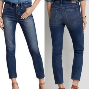 American eagle outfitters women's vintage high rise jeans button fly. Size 6